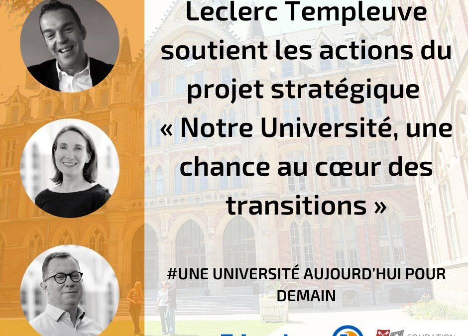 E.LECLERC Templeuve soutient le projet stratégique de l'Université