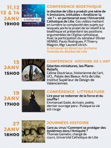 Janvier 2021 - programme des conférences à distance